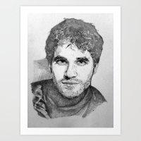 darren criss Art Prints featuring Darren Criss by EleanorOrchard