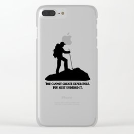 Albert Camus - You Cannot Create Experience Clear iPhone Case