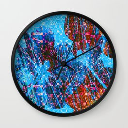 Mosaic Dragonflies QQ Wall Clock