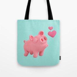 Rosa the Pig blow kisses Tote Bag