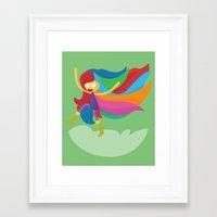 musa Framed Art Prints featuring Musa by Juliana Rojas | Puchu