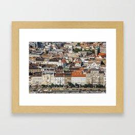 Budapest from Above Framed Art Print