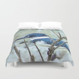 Young Belted Kingfisher (Repost) Duvet Cover