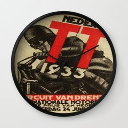 Vintage poster - Dutch Motorcycles Wall Clock