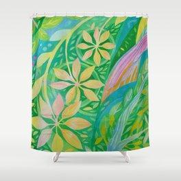 Pinwheel Flowers Shower Curtain
