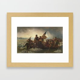 Washington Crossing The Delaware Framed Art Print