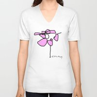 pi V-neck T-shirts featuring PP PI by Moonbird