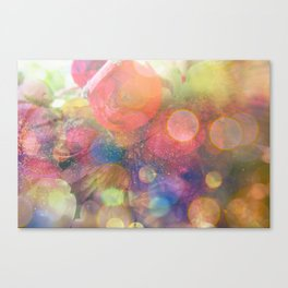 bokeh floral Canvas Print