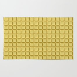 Just white chocolate / 3D render of white chocolate Rug