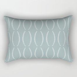 Beads in Dusty Teal Rectangular Pillow
