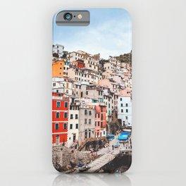 The five lands, cinque terre, Riomaggiore, Unesco village, UNESCO site, Liguria, sea village, cliff villages iPhone Case