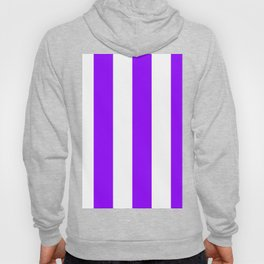 Wide Vertical Stripes - White and Violet Hoody