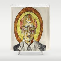 larry Shower Curtains featuring Larry David by Carson Kaiser