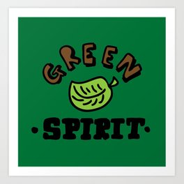 green spirit Art Print