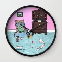 Grandmom's Little Rascal - Scotties - Scottish Terriers Wall Clock