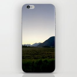 Tranquil mountains dusk iPhone Skin