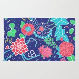 Flowers and Cactus Rug