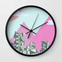 denver Wall Clocks featuring denver by marney cinclair