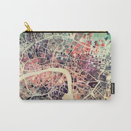 London Mosaic Map #1 Carry-All Pouch