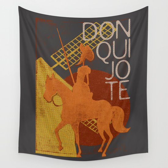 Books Collection: Don Quixote Wall Tapestry