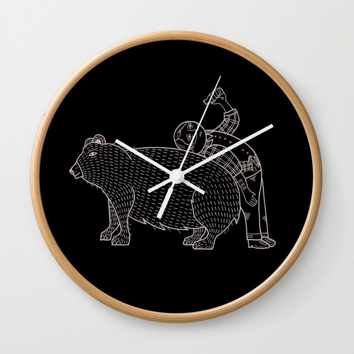 The Known Practice of using Domesticated Bears as cushions while drinking.  Wall Clock