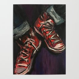 Red Converse Poster