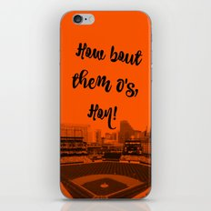 How bout them O's black text iPhone & iPod Skin