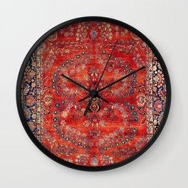 Sarouk Arak West Persian Carpet Print Wall Clock
