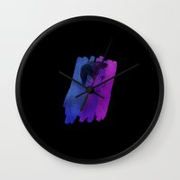 stiles stilinski Wall Clocks featuring Stiles by stubbornrain