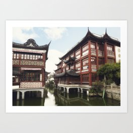 Yuyuan Garden (Garden of Happiness) is an extensive Chinese garden located in the Old City of Shangh Art Print