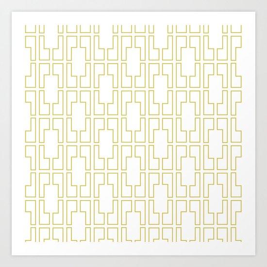 Simply Mid-Century in Mod Yellow Art Print