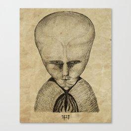 Lam magick art - Aleister Crowley drawing Canvas Print