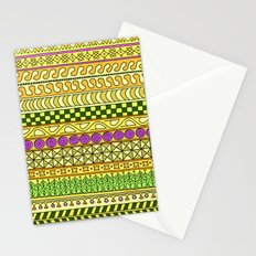 Yzor pattern 011 Yellow Things Stationery Cards