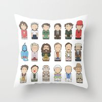 robin williams Throw Pillows featuring Robin Williams  by Big Purple Glasses