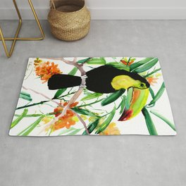 Toucan, Tropical Art, tropics Rug
