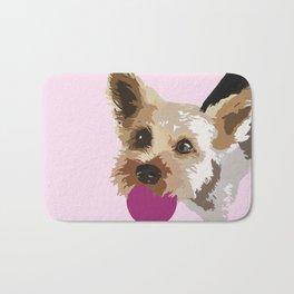 Rex in pink Bath Mat