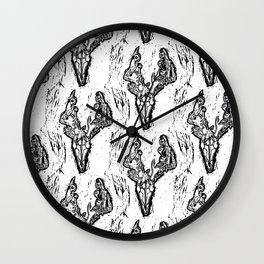 Deer Skull Pattern Wall Clock