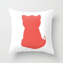 Cat red Throw Pillow