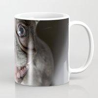 french bulldog Mugs featuring French Bulldog by Falko Follert Art-FF77