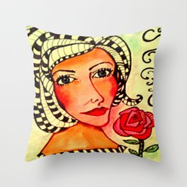 RUBI ROSE Throw Pillow