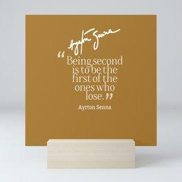 Ayrton Senna Quote Mini Art Print