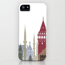 Istanbul skyline poster iPhone Case