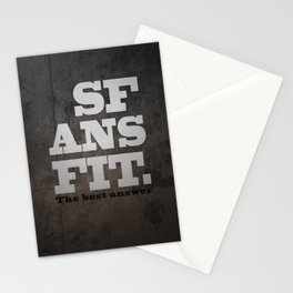 Black SFANSFIT the best answer Stationery Cards
