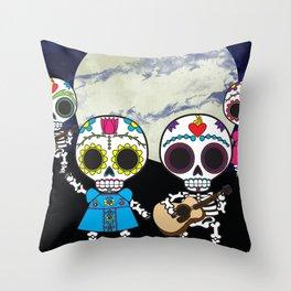 Muertos Party Throw Pillow