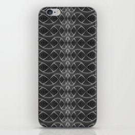 String Art Sequence - White on Black iPhone Skin