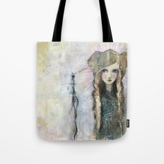 Gesso Geisha by Jane Davenport Tote Bag