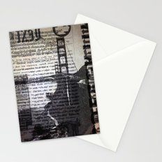 Golden Gate Bridge Text Collage Stationery Cards
