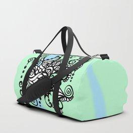 Freestyle Doodle Marker Design - Blue Green Duffle Bag