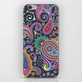 Oriental Persian Paisley - Green Pink Blue Yellow iPhone Skin