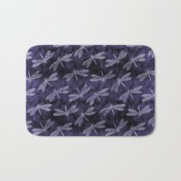 Purple Dragonfly Twighlight Dance Bath Mat